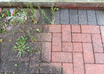 Block Paving Cleaning before and after